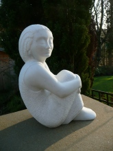 Seated figure, Carrara marble