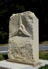 Airfield marker stone