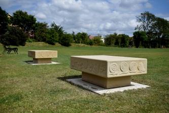 Sandstone benches
